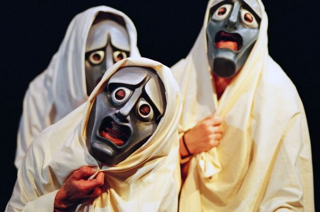 Modern Greek tragic masks
