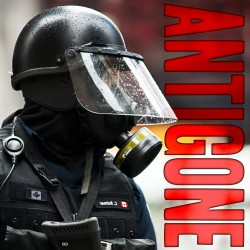 Poster for Antigone by Soup Can Theatre, Toronto Fringe 2012