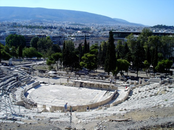 The theatre of Dionysus on the south slope of the Acropolis