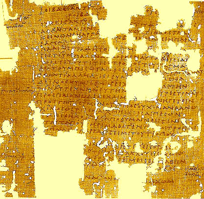 Papyrus fragment of a satyr play by Sophocles