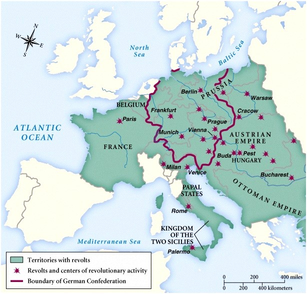 the 1848 revolutions in europe 1848 was the turning point at which modern history failed to turn — g m trevelyan fastforward to 1848 a wave of revolutions swept across europe as the people.