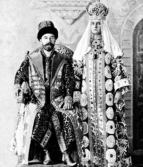 Nicholas II and the empress of Russia, Alexandra Fedorovna in 1903