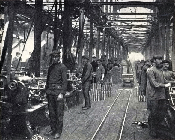 The shell-shop of the Putilov works, St Petersburg 1903
