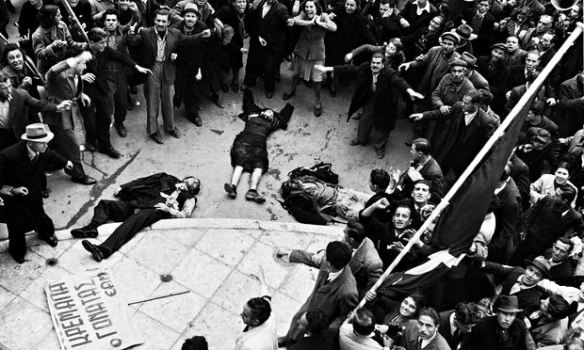 Athens, December 1944 - British troops shoot unarmed demonstrators