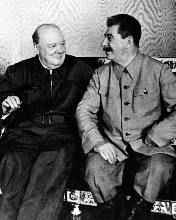 Churchill and Stalin in Moscow, 1942