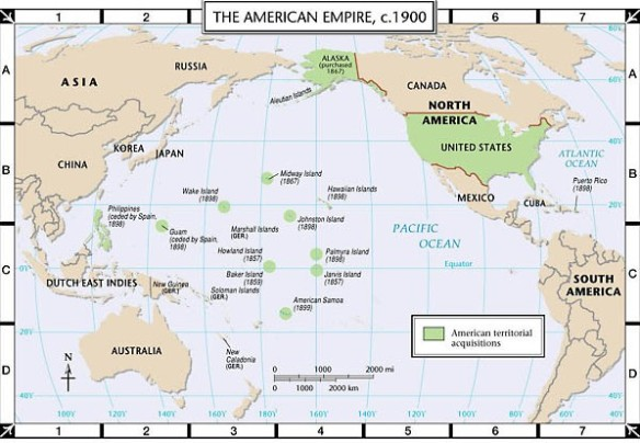 The US Empire in 1900