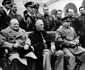 Stalin, Roosevelt, Churchill at Yalta, February 1945