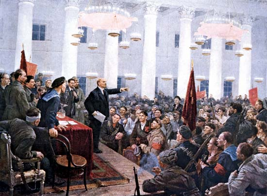 Lenin at the Congress of Soviets
