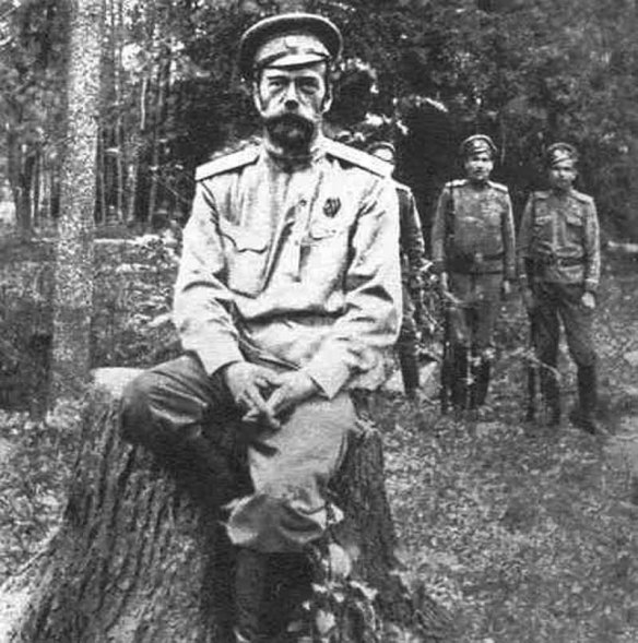 Tsar Nicholas II under detention after his abdication
