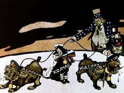 Denikin, Kolchak, Yudenich as puppets of the imperialists